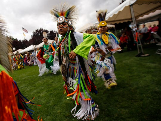The contest pow-wow is one of the prime attractions