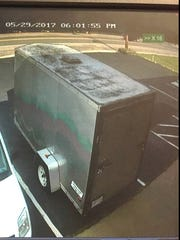 This pull behind trailer is believed to have been stolen from a Hebron business on May 30.