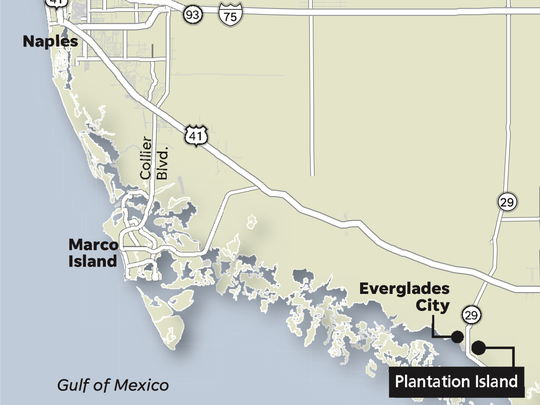 Map of Plantation Island
