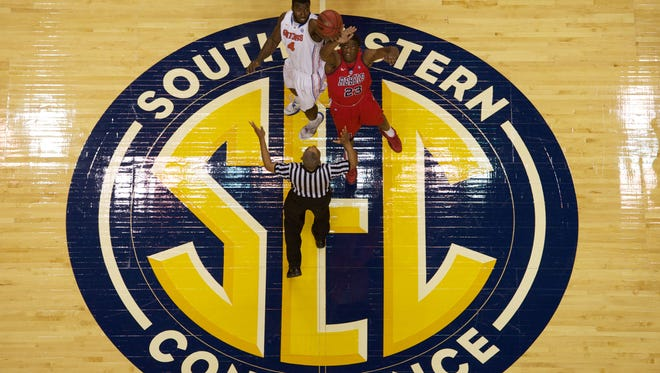 Bridgestone Arena in Nashville also was host for the 2013 SEC tournament.