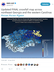 The official snowfall map was released this morning