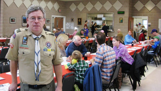 Troop 312 Scoutmaster, Mark Sowden, spoke about the Scouts who worked hard to make their Annual Pancake Breakfast a success.