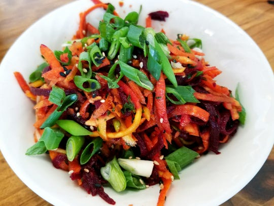 Fruits & Roots' Root Salad was red and golden beets,
