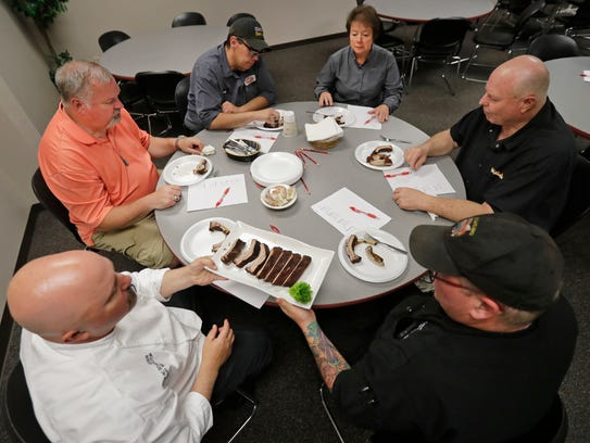 Judges scored ribs on taste, texture and originality.