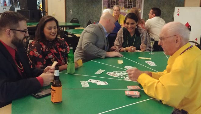 The Gulf Coast Rotary chapter provided the dealers for the Casino in the Cape on Feb. 16 aty the Cape Coral Yacht Club.