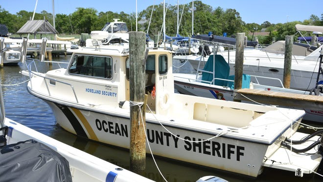 """""""Marine 1"""" of the Ocean County Sheriff's Department."""