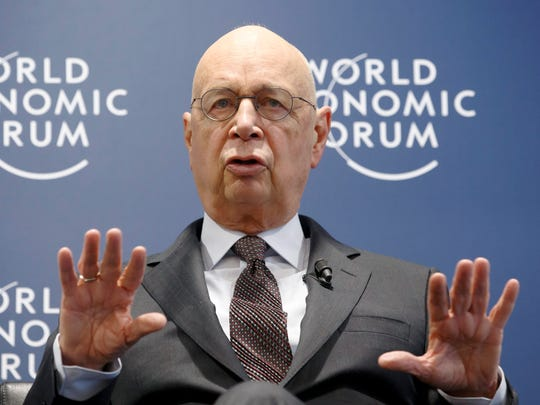 German Klaus Schwab, founder and president of the World