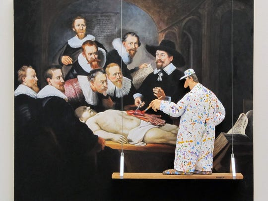 "A painter gets involved in ""Rembrandt's Anatomy,"" part"