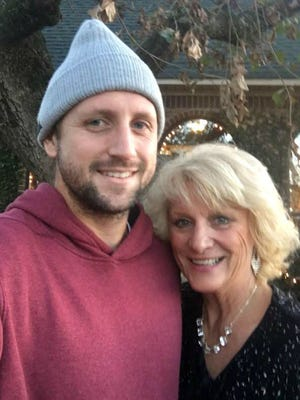 Gallatin resident Tennys Sandgren, who has advanced to the quarterfinals of the Australian Open, with his mother Lia.