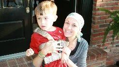 Caroline Johnson and her son.