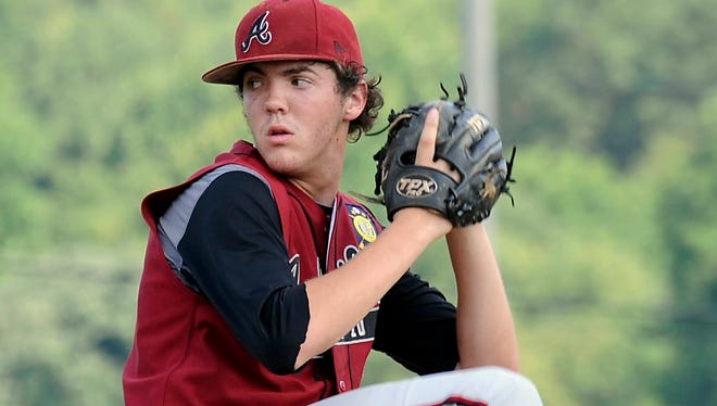 Bryce Hensley pitched for the Asheville American Legion Post 70 baseball team last summer.
