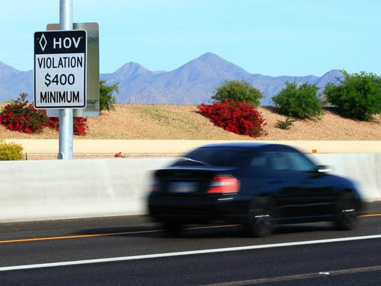 Arizona HOV lane violations rising