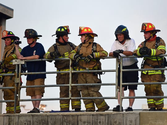 Teens in the annual Junior Firefighters Academy participated in drills at the Franklin County Public Safety Training Center, Chambersburg, on Wednesday, July 19, 2017.