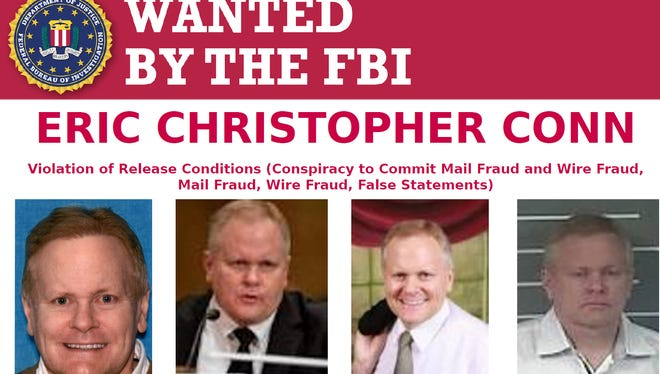 An FBI poster released as the agency searches for Eric Conn.