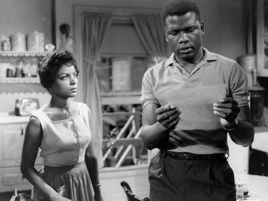 """Ruby Dee and Sidney Poitier star in """"A Raisin in the"""