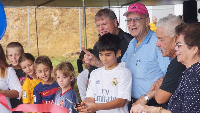 Notre Dame High School held a blessing and grand opening for the Ysrael Athletic Field on Friday, Aug. 7, 2015. The ceremony honored donor Al Ysrael and his family for their contribution to the school.