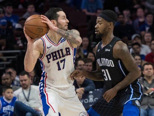 USP NBA: ORLANDO MAGIC AT PHILADELPHIA 76ERS S BKN PHI ORL USA PA