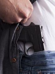 Revealing concealed firearm