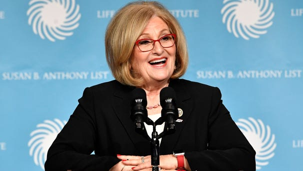 Rep. Diane Black speaks before an appearance by...