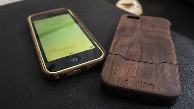 Give Dad the gift of a walnut wood iPhone case from Portland, Ore.-based Grovemade.