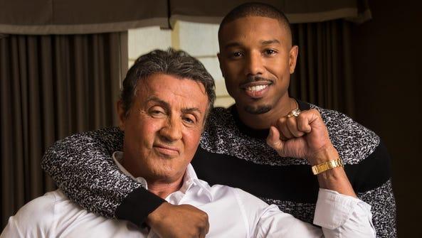 Sylvester Stallone (as Rocky Balboa) and Michael B.