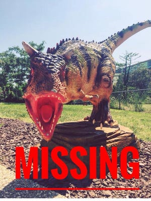 The missing dinosaur from Nick's Dino Golf on 125 Street in Ocean City.