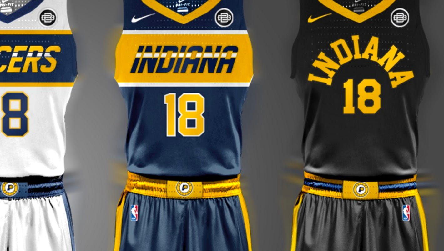 Designer Blesses Pacers Fans With Beautiful Concept Jerseys