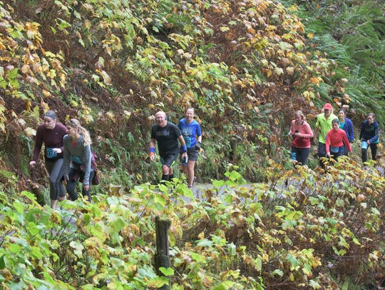 More than 2000 runners participated in the Silver Falls