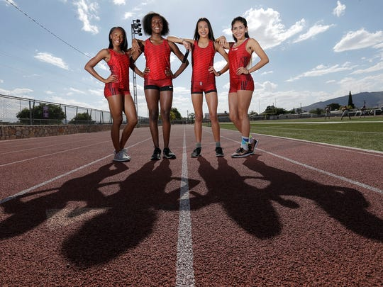 The Jefferson girls 4x400 relay team of Kayla Jefferies, Briona Pinkney, Aliyah Brewer and Aylin Morales qualified for the Class 5A state track and field meet in Austin. The relay team will run on Friday.