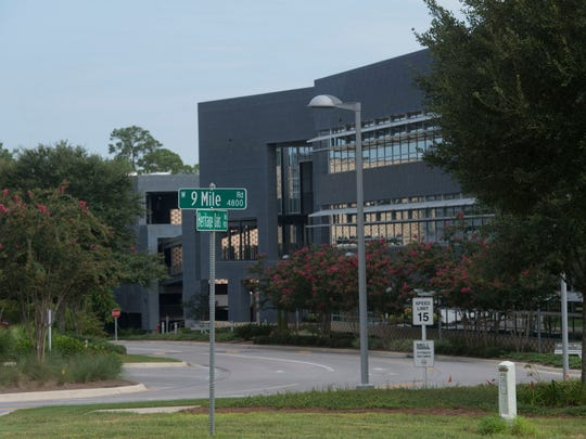 Navy Federal on Nine Mile Road would like to increase its Beulah area campus if Escambia County's propose land swap plan with the Navy for Outlying Field 8 becomes reality.