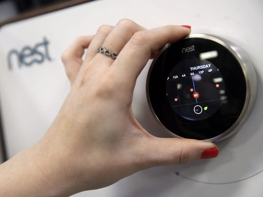 A smart thermostat from Nest, a unit of  Alphabet Inc.