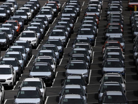 RICHMOND, CA - MAY 24:  Brand new cars sit in a lot