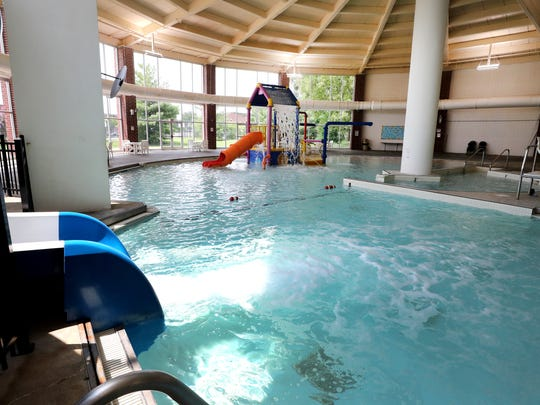 An indoor pool was added to Patterson Park Community Center when it was rebuilt in 2003.