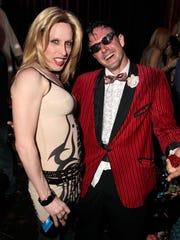 Alexis Arquette and David Arquette attend the birthday