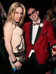 Alexis Arquette and David Arquette attend the birthday