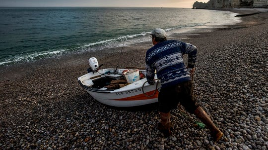 Fisherman an dawn.