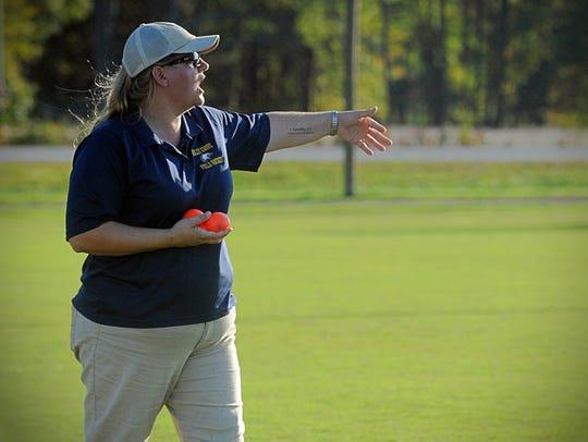 Holly Grove head field hockey coach Mandy Lankford