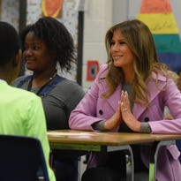 First lady takes on isolation at West Bloomfield school