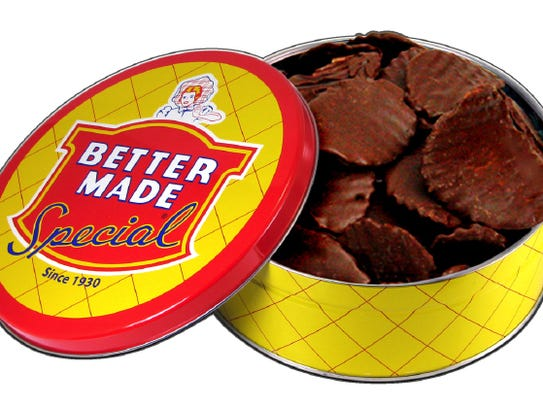 Chocolate Covered Potato Chips from Better Made Snacks