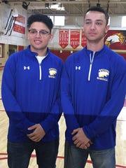 North Brunswick's Eric Vasquez (left) and Justin Garcia