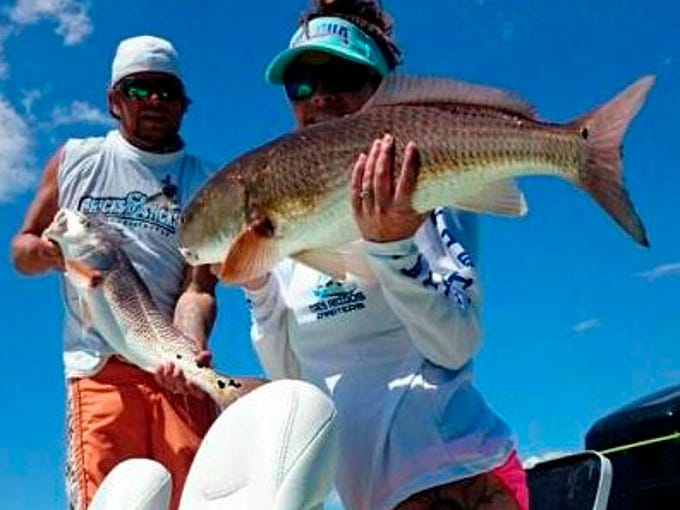 Jeremy and Lyndsey Lewis used live pinfish to catch