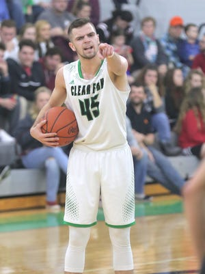 Clear Fork's Chance Barnett orders his teammates around during a game against Pleasant on Friday.
