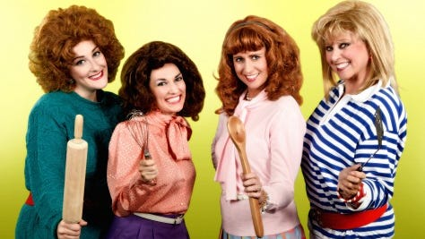 """The cast of the Arizona Broadway Theatre production """"Angry Housewives."""" From left: Monica Ban, Rori Nogee, Molly Lajoie and Kathi Osborne."""