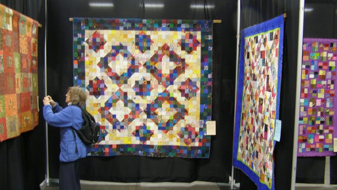 Quilts on display at PVQA 2014