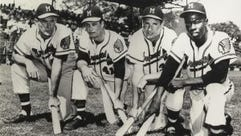 The 1957 Braves at spring training are part of the