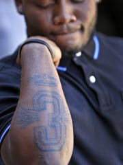 Jay Coe got a #3 tattoo to remember his late teammate Warren Central football star Dijon Anderson.