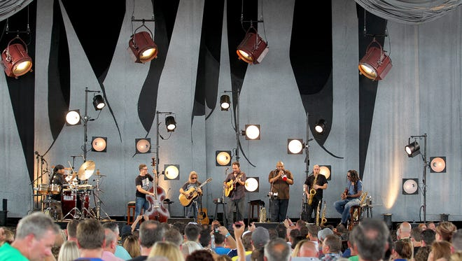 """The Dave Matthews Band performs """"Two Step"""" at the Klipsch Music Center, Friday, June 20, 2014, in Noblesville."""