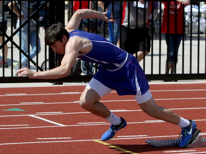 Graham's Wesley Martin runs off the blocks in the division