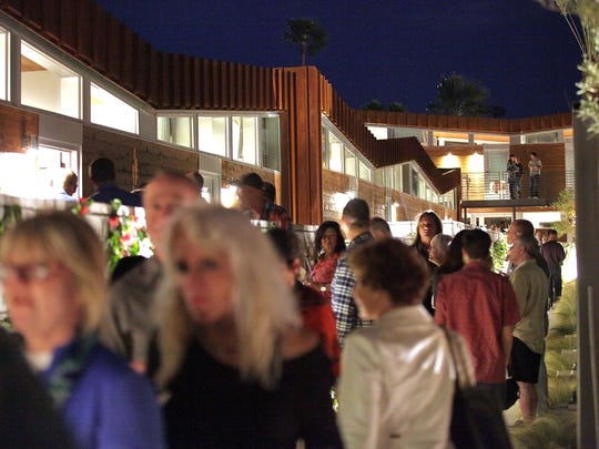 Hundreds attend the opening of Arrive Palm Springs, Februrary 18, 2016.