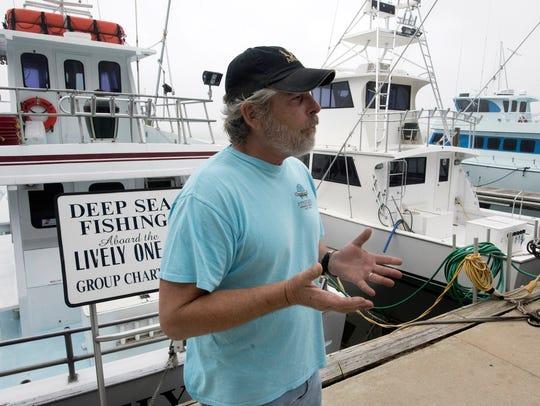 Kurt Schnupp,dock manager at the Pensacola Beach Marina,